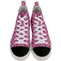 SCALES1 WHITE MARBLE & PINK DENIM Men s Mid-Top Canvas Sneakers View1