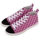 SCALES1 WHITE MARBLE & PINK DENIM Men s Mid-Top Canvas Sneakers View2