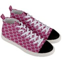 SCALES1 WHITE MARBLE & PINK DENIM Men s Mid-Top Canvas Sneakers View3