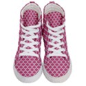 SCALES1 WHITE MARBLE & PINK DENIM Women s Hi-Top Skate Sneakers View1
