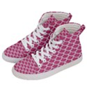 SCALES1 WHITE MARBLE & PINK DENIM Women s Hi-Top Skate Sneakers View2