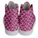 SCALES1 WHITE MARBLE & PINK DENIM Women s Hi-Top Skate Sneakers View4