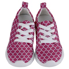 Scales1 White Marble & Pink Denim Kids  Lightweight Sports Shoes