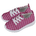 SCALES1 WHITE MARBLE & PINK DENIM Kids  Lightweight Sports Shoes View2
