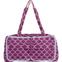 SCALES1 WHITE MARBLE & PINK DENIM Multi Function Bag View1
