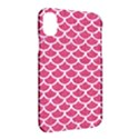 SCALES1 WHITE MARBLE & PINK DENIM Apple iPhone X Hardshell Case View2