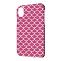 SCALES1 WHITE MARBLE & PINK DENIM Apple iPhone X Hardshell Case View3