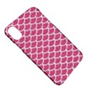 SCALES1 WHITE MARBLE & PINK DENIM Apple iPhone X Hardshell Case View5