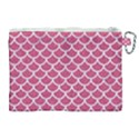 SCALES1 WHITE MARBLE & PINK DENIM Canvas Cosmetic Bag (XL) View2