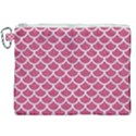 SCALES1 WHITE MARBLE & PINK DENIM Canvas Cosmetic Bag (XXL) View1