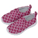 SCALES1 WHITE MARBLE & PINK DENIM Velcro Strap Shoes View2