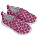 SCALES1 WHITE MARBLE & PINK DENIM Velcro Strap Shoes View3