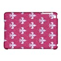 ROYAL1 WHITE MARBLE & PINK DENIM (R) Apple iPad Mini Hardshell Case (Compatible with Smart Cover) View1