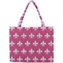 ROYAL1 WHITE MARBLE & PINK DENIM (R) Mini Tote Bag View1