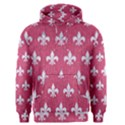 ROYAL1 WHITE MARBLE & PINK DENIM (R) Men s Pullover Hoodie View1