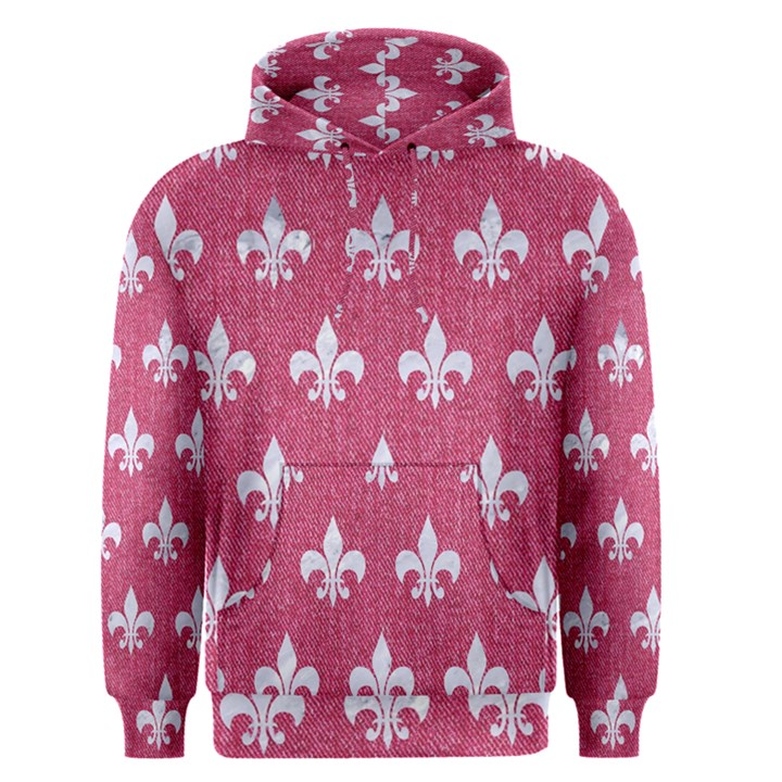 ROYAL1 WHITE MARBLE & PINK DENIM (R) Men s Pullover Hoodie