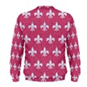 ROYAL1 WHITE MARBLE & PINK DENIM (R) Men s Sweatshirt View2