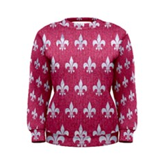 Royal1 White Marble & Pink Denim (r) Women s Sweatshirt