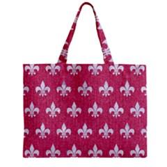 ROYAL1 WHITE MARBLE & PINK DENIM (R) Zipper Mini Tote Bag