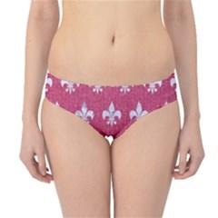 ROYAL1 WHITE MARBLE & PINK DENIM (R) Hipster Bikini Bottoms