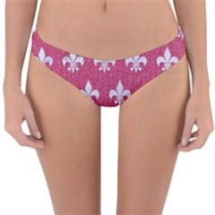 ROYAL1 WHITE MARBLE & PINK DENIM (R) Reversible Hipster Bikini Bottoms