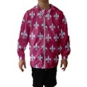 ROYAL1 WHITE MARBLE & PINK DENIM (R) Hooded Windbreaker (Kids) View1