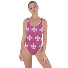 Royal1 White Marble & Pink Denim (r) Bring Sexy Back Swimsuit
