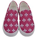 ROYAL1 WHITE MARBLE & PINK DENIM (R) Men s Canvas Slip Ons View1