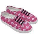 ROYAL1 WHITE MARBLE & PINK DENIM (R) Women s Classic Low Top Sneakers View3