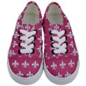 ROYAL1 WHITE MARBLE & PINK DENIM (R) Kids  Classic Low Top Sneakers View1