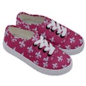 ROYAL1 WHITE MARBLE & PINK DENIM (R) Kids  Classic Low Top Sneakers View3