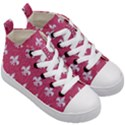ROYAL1 WHITE MARBLE & PINK DENIM (R) Kid s Mid-Top Canvas Sneakers View3