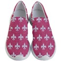 ROYAL1 WHITE MARBLE & PINK DENIM (R) Women s Lightweight Slip Ons View1