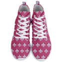 ROYAL1 WHITE MARBLE & PINK DENIM (R) Men s Lightweight High Top Sneakers View1