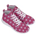 ROYAL1 WHITE MARBLE & PINK DENIM (R) Men s Lightweight High Top Sneakers View3
