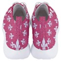 ROYAL1 WHITE MARBLE & PINK DENIM (R) Men s Lightweight High Top Sneakers View4