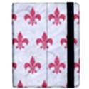 ROYAL1 WHITE MARBLE & PINK DENIM Apple iPad 2 Flip Case View2