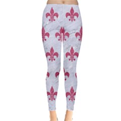 ROYAL1 WHITE MARBLE & PINK DENIM Leggings