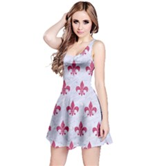 ROYAL1 WHITE MARBLE & PINK DENIM Reversible Sleeveless Dress