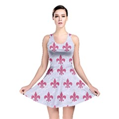 ROYAL1 WHITE MARBLE & PINK DENIM Reversible Skater Dress