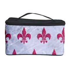 ROYAL1 WHITE MARBLE & PINK DENIM Cosmetic Storage Case