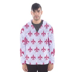 ROYAL1 WHITE MARBLE & PINK DENIM Hooded Windbreaker (Men)