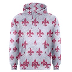 ROYAL1 WHITE MARBLE & PINK DENIM Men s Pullover Hoodie