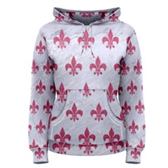 ROYAL1 WHITE MARBLE & PINK DENIM Women s Pullover Hoodie