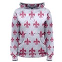 ROYAL1 WHITE MARBLE & PINK DENIM Women s Pullover Hoodie View1