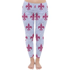 ROYAL1 WHITE MARBLE & PINK DENIM Classic Winter Leggings