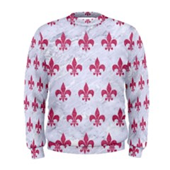 ROYAL1 WHITE MARBLE & PINK DENIM Men s Sweatshirt