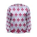 ROYAL1 WHITE MARBLE & PINK DENIM Women s Sweatshirt View1