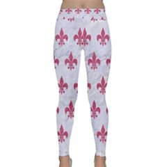 ROYAL1 WHITE MARBLE & PINK DENIM Classic Yoga Leggings