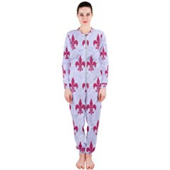 ROYAL1 WHITE MARBLE & PINK DENIM OnePiece Jumpsuit (Ladies)
